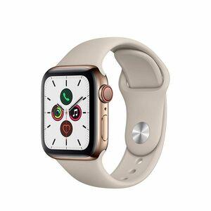新品未開封★Apple Watch Series 5(GPS + Cellularモデル)- 40mm ゴールドステンレススチールケースとストーンスポーツバンド MWX62J/A
