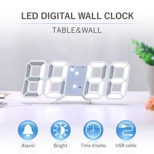 デジタル時計 置き時計 壁掛け 3D LED おしゃれ 置時計 韓国 インテリア 目覚まし 置き型 掛時計 2WAY おしゃれ かわいい クロック