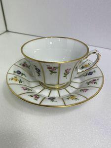 1023-03 フュルステンベルグ/Furstenbergカップ&ソーサー 西洋陶磁 洋食器 ドイツ 花柄 デミタス コーヒー