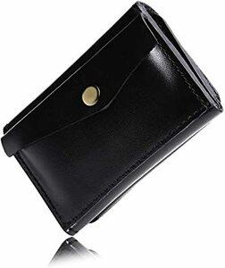 ブラック [京極匠工房] 小さい財布 ミニ財布 本革 メンズ ハンドメイド ミニマリスト コンパクト 小銭入れ