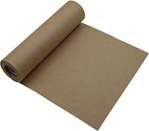 茶色 ZERONOWA クラフト紙 ラッピングペーパー ロール 無地 包装紙 ギフト 業務用 (茶色)