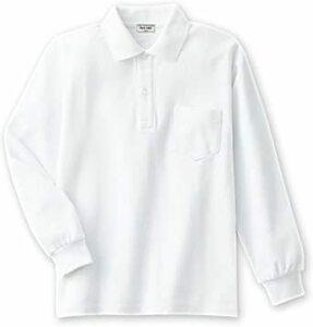 新品ホワイト 140 Ashberry(アッシュベリー) 鹿の子長袖ポロシャツ(白)子供/スクール/キッズ/小学生/0HVO