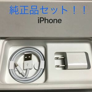 iPhone充電器 ライトニングケーブル 1本 1m 純正品アダプタセット