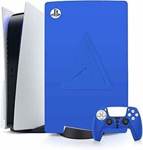 青い PS5 本体シリコンスキンとdualsense カバー、PlayStation5(通常版)用の防塵、傷防止プロテクター、ソ
