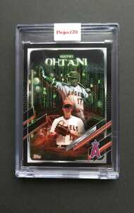 即決・送料込み!大谷翔平2021Topps Project70A Card550 Shohei Ohtani by The Shoe Surgeon ※マトリックス 風
