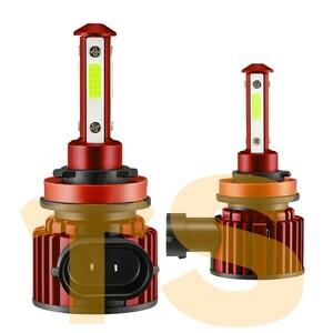送料無料☆ヘッドライト フォグランプ H7/H8/H9/H11/H16/HB3/HB4 LED F8 2個/1セット 超簡単取付 8000K COBPチップ 8000LM 4面発光 IP67