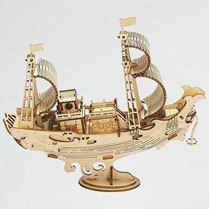 新品 未使用 立体パズル Robotime X-NM 贈り物(古代の船 TG307) 木製パズル クラフト おもちゃ オモチャ 知育玩具 男の子 女の子