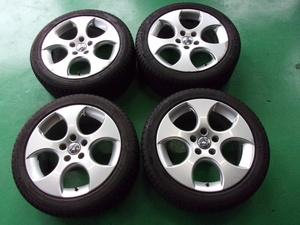 【VW】ゴルフ5 GTI[純正]アルミ(BBS RD252)☆7.5J×17+51 PCD112-5穴☆X-ICE XI3 225/45R17☆4本[輸入1703]冬用