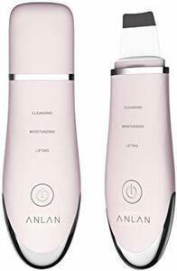 【在庫限り】ピンク ANLAN ウォーターピーリング 超音波ピーリング 美顔器 スマートピール イオン導入 イオン導出 超音波振動 毛穴クリ
