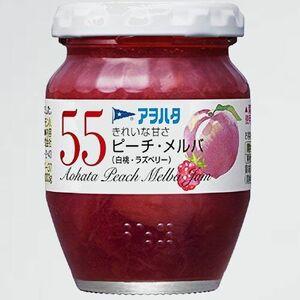 新品 目玉 55 アヲハタ 3-DI ピ-チ・メルバ(白桃・ラズベリ-) 150g×2個