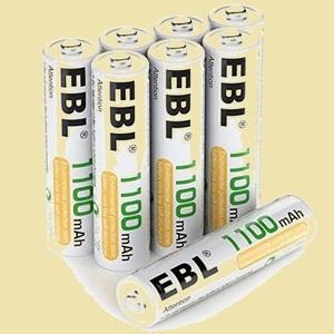 在庫残りあと僅か 単4電池 EBL 4-M8 単四電池 充電池 充電式電池 1100mAhニッケル水素充電式電池、収納ケ-ス付き8パック