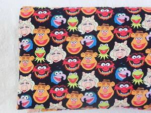 USA コットン Muppets マペッツ 黒 45cm
