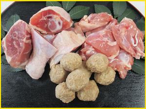 E【季節限定/鍋】鶏肉3種セット!!鶏の水炊きにぜひ♪約2-3人前!!