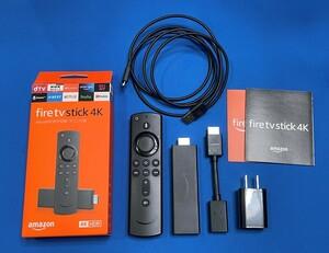 ◆amazon fire tv stick 4K Alexa対応音声認識リモコン付属 ストリーミングメディアプレーヤー・元箱付属品有り◆USED
