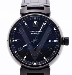 LOUIS VUITON ルイヴィトン Q1D22 タンブール オールブラック メンズ 腕時計 自動巻 オートマチック 正規品 稼働品