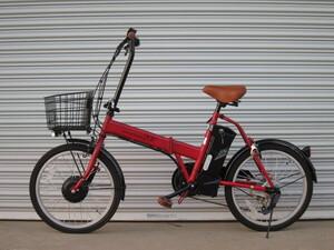 ●アウトレット● 折り畳める 20インチ電動アシスト自転車 マットレッド