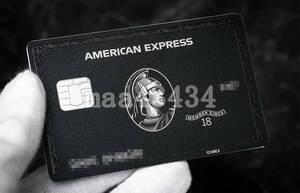 ■□【期間限定特価】 印字可能! 新型 アメックス Amex センチュリオンカード ブラックカード メタル レプリカ□■