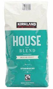 ▲【送料無料】 カークランドシグネチャー スターバックス ハウスブレンド コーヒー (豆) 907g STARBUCKS Roast House コストコ 人気商品