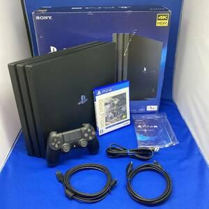 動作良好 PS4 Pro 1TB CUH-7200BB01 おまけソフト付き プレステ4 SONY 本体 PlayStation モンハン 送料無料 1円スタート 売り切り