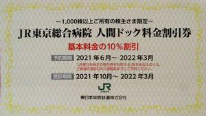 JR東京総合病院 人間ドック料金割引券