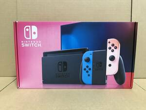 ニンテンドー★Nintendo Switch 本体 Joy-Con(L) ネオンブルー/(R) ネオンレッド★未使用品 箱色やけダメージあり 送料無料