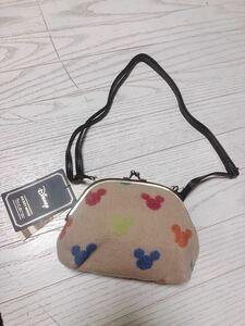 新品  ミッキーマウス ショルダーバッグ がま口バック がま口ポーチ 子供用 大人用 レディース カバン ミニバッグ