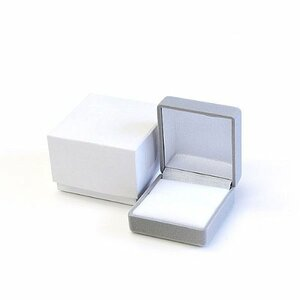 リング/指輪 プレゼント 高級ジュエリーケース/アクセサリーボックス/グレー ハンドメイド/収納/箱/BOX/ギフト/贈り物/プロポーズ