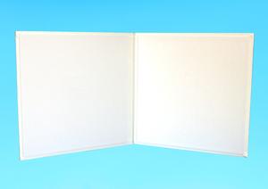 写真台紙 六切用 白色 2面台紙 中台紙2枚付■3冊セット■写真は縦横自由■新古品■竹野株式会社製■AL-09
