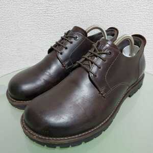BIRKENSTOCK ビルケンシュトック レザーシューズ レザーブーツ 40 26㎝ ダークブラウン 本革 高級靴 人気モデル ドイツ製