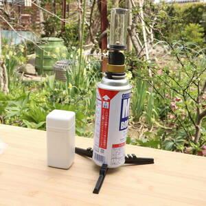 【国内発送・送料無料】3点セット OD缶/CB缶対応 超軽量ガスランタン プラケース・日本語マニュアル付 小型ランタン ガス缶用スタンド