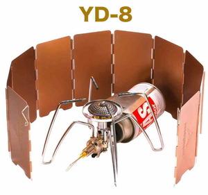 【CAMPING MOON】コンパクト ウィンドスクリーン(小) 風防 バーナー風よけ 収納プラケース付 YD-8 [PayPay対応]
