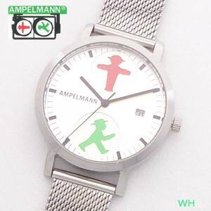 腕時計 レディス ファション時計 アンペルマン メンズ キッズ ウォッチ AFC2115WH クォーツ 3針 カレンダー 日付 ドイツ 信号機 ベルリン