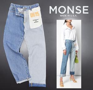 ◆2019PF 定価107,300円 アメリカ製 モンス【MONSE】Inside Out Jeans インサイドアウト 再構築 ストレートデニムパンツ 0/極美品◆