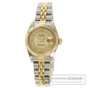 ROLEX ロレックス 79173NRD デイトジャスト 腕時計 ステンレススチール SSxK18YG レディース 中古