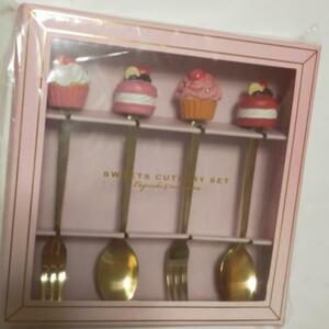 ピンク色 ギフト スイーツ カトラリー セット 食器 スプーン フォーク