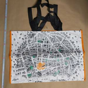 折りたたむので折れ跡がつきます BHV エコバッグ フランス ショッピングバッグエコバッグ トートバッグ 鞄  エコバ バッグ カバン