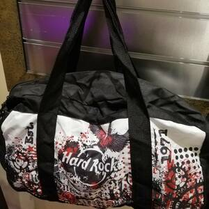 エコバッグ ハードロック 鞄 バッグ HARDROCK トートバッグ カバン 黒色 旅行鞄 ハードロックカフェ 折り畳みバッグ