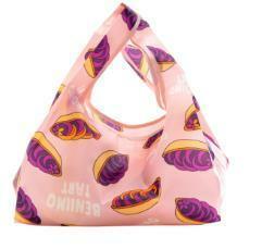ピンク色 コンビニサイズ ミニトート エコバッグ 鞄 ランチトート トートバッグ かばん カバン バッグ 沖縄 紅いも 紅芋 鞄 御菓子御殿