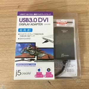 [10-275] 【未開封】j5 Create USB3.0 DVI ディスプレイアダプター JUA330 フルHD