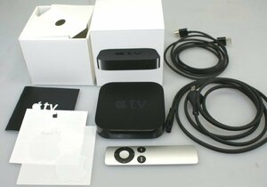 (( one months guarantee )) ** Apple TV no. 3 generation A1469 MD199J/A ** box instructions operation OK