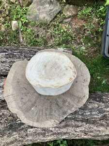 樫 薪割り台 バトニング 作業台  約20cm