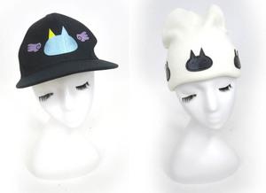 MINT NeKO × ゴールデンボンバー 歌広場淳 ねこじろうニットキャップ 天使のキャップ セット / ミントネコ 帽子 エイチナオト [B43566]