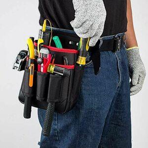 好評 新品 2段 腰袋 W-BH 工具ポ-チ (M) 電工 工具袋 腰 工具入れ 工具差し付 ツ-ルバッグ ポケット多数