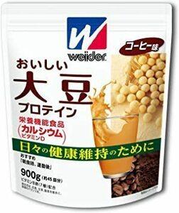 新品900g (約45回分) お徳用サイズ ウイダー おいしい大豆プロテイン コーヒー味 900g (約45回分) PBGC
