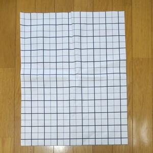 方眼シーチング 52×41cm +ハギレ