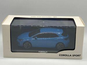 即決有★1/30 カラーサンプル TOYOTA トヨタ COROLLA SPORT カローラ スポーツ 8W9 シアンメタリック ブルー 青★ミニカー
