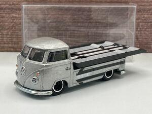 即決有★HW hotwheels TEAM TRANSPORT VW VOLKSWAGEN TRANSPORTER T1 PICKUP 積載車 MOMO ホットウィール★ミニカー ルース