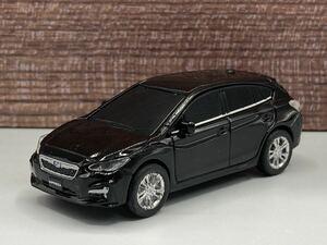 即決有★プルバックカー SUBARU スバル EyeSight アイサイト IMPREZA インプレッサ 黒★ミニカー