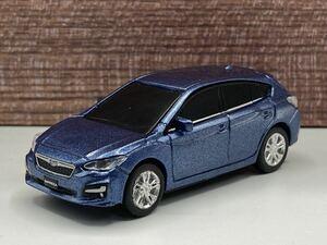 即決有★プルバックカー SUBARU スバル EyeSight アイサイト IMPREZA インプレッサ 青系★ミニカー