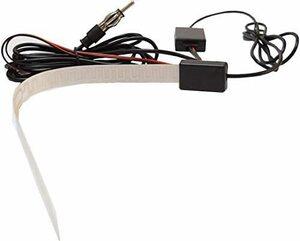 FM AM 受信 増幅 フィルム アンテナ 車 船 舶 用 ラジオ 受信 ブースター付 カー オーディオ アンテナ DC12V 信号増幅